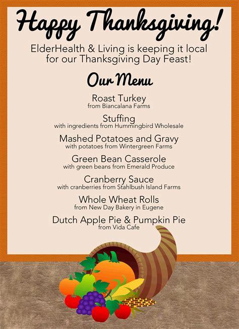 Traditional Thanksgiving Menu Usa