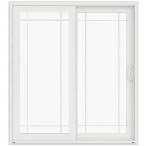 Ashworth Patio Doors Ashworth Professional Series 72 In X 80 In White Aluminum Wood Patio Door