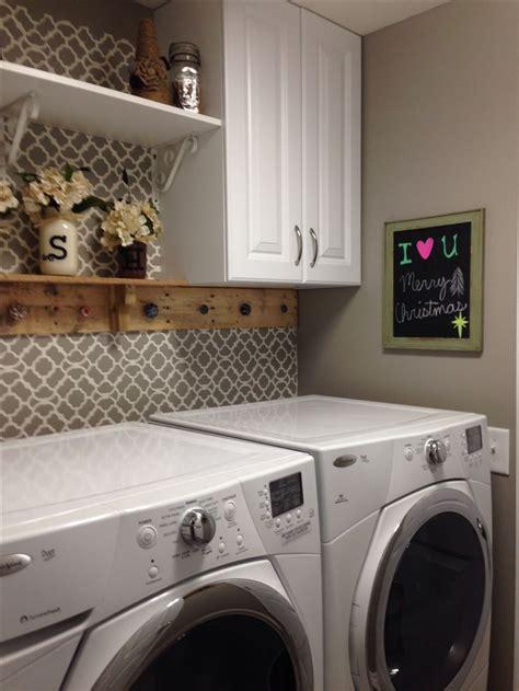 laundry room setup ideas would add small shelf to back of