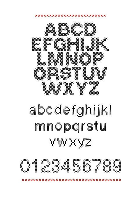 cross stitch pattern fonts cross stitch font sewing pinterest