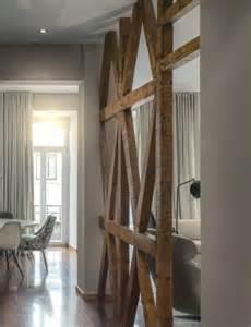 How To Home Decoration separation salon poutre bois