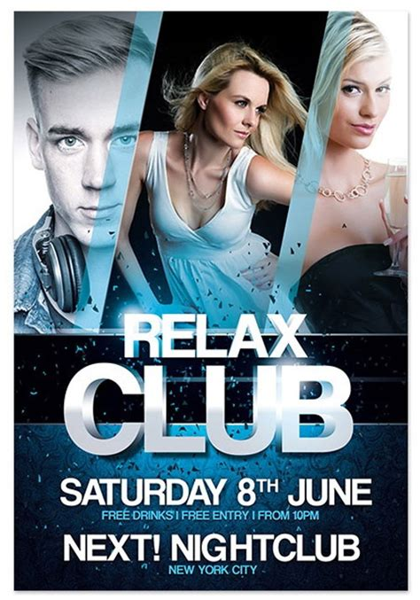 free club templates 18 free photoshop psd club poster and flyer