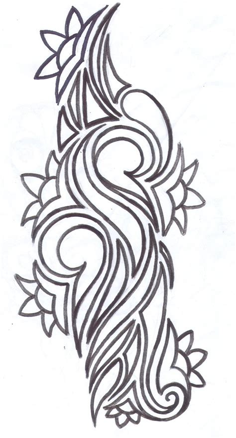 tribal tattoo with flower tribal flower design 2015
