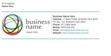 Business Card Signature Template by Design A Stunning Custom Email Signature Email