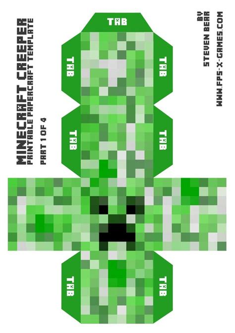 minecraft 1 8 template minecraft skin pictures print big minecraft creeper