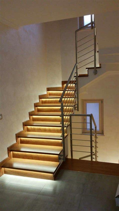 illuminazione scala interna ringhiera scala interna acciaio inox e legno www