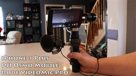 iphone   osmo mobile videomic pro setup youtube