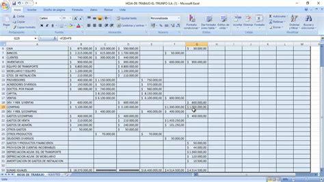 como elaborar hojas de trabajo en excel hoja de trabajo practica en excel youtube