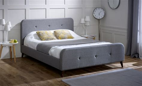 limelight beds limelight beds tucana 4ft 6 double fabric bedframe ash