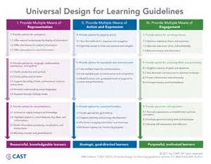 Universal Design For Learning Lesson Plan Template by Udl Implementation A Tale Of Four Districts National