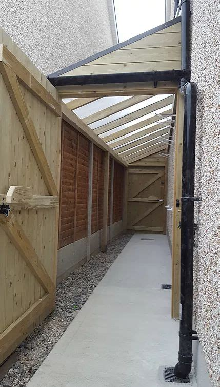 woodever carpentry ireland lean  shed side