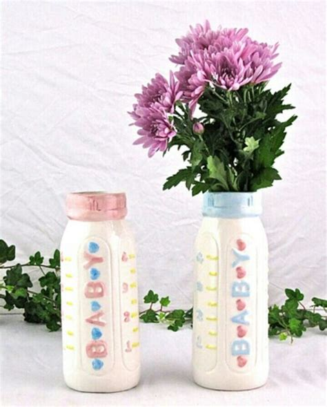 baby bottle centerpieces baby shower baby bottle flower vase centerpiece for baby shower i m