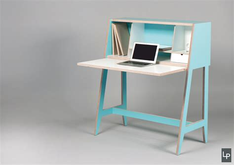 A Wired Desk That S Built Into A Cabinet Design Milk Milk Tiny Desk