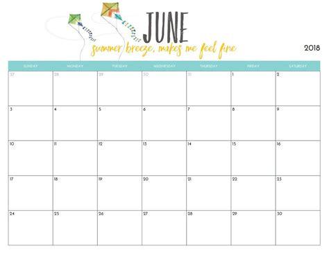 june 2018 blank calendar templates june 2018 calendar printable