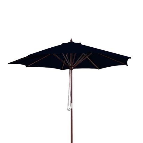 Black Patio Umbrella Shop Manufacturing Black Market Patio Umbrella Common 9 Ft W X 9 Ft L Actual 9 Ft W X