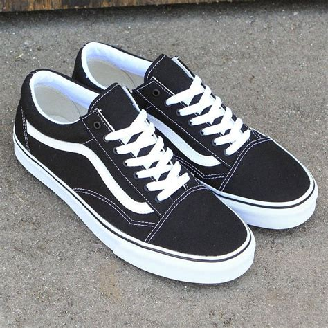 Vans Oldskool Canvas Black White Original Vans Canvas Skool Classic Black True White