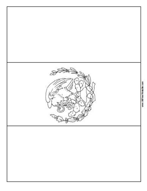mexico flag coloring page with key flags free printable allfreeprintable com
