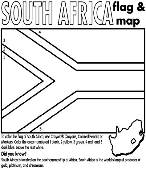 south african flag coloring page coloring pages