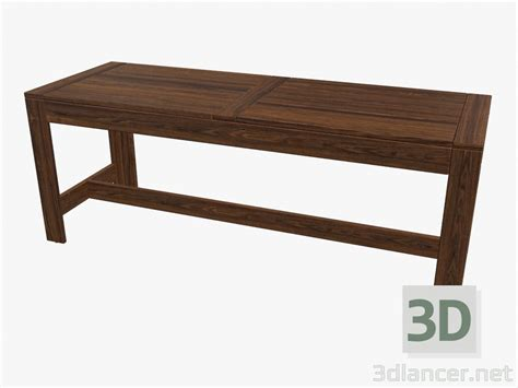 bench 3d model 3d model bench manufacturer ikea collection 196 pplar 214 outdoor furniture download for
