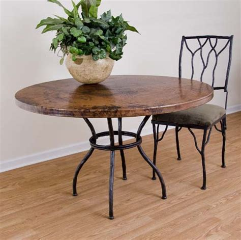 copper and iron dining table 225 western dining tables