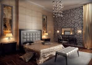 Over a patterned wall gives a modern touch to classic deco style