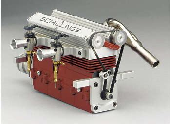schillings double overhead cam  cylinder engine