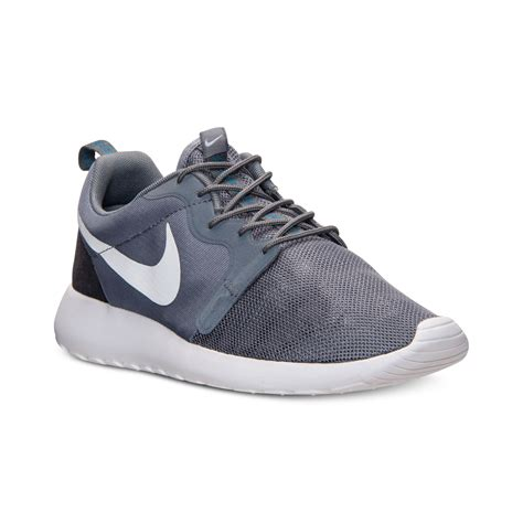 casual sneakers lyst nike mens roshe run hype casual sneakers from