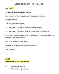 disciplinary template 20 disciplinary letters templates hr templates free