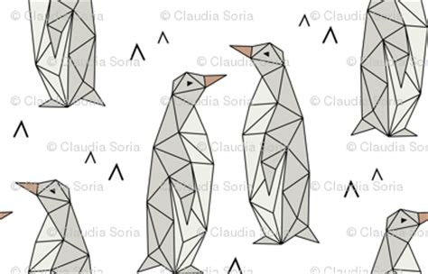 geometric penguins fabric kimsa spoonflower
