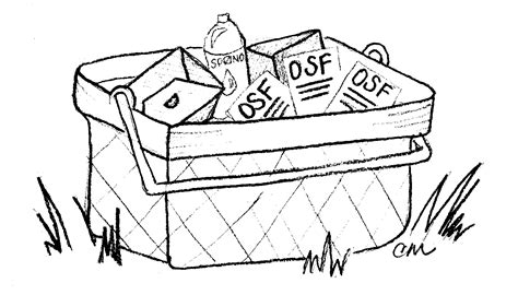 picnic basket coloring page sheet coloring pages