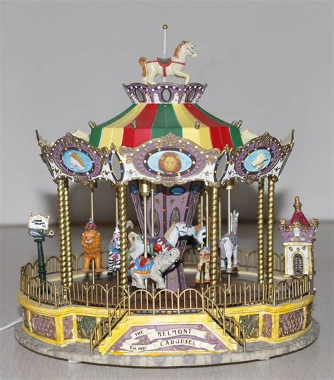 lemax belmont animals carousel with melody and lighting