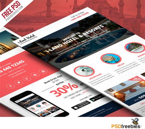 mailer templates psd hotel deals and offers newsletter template free psd