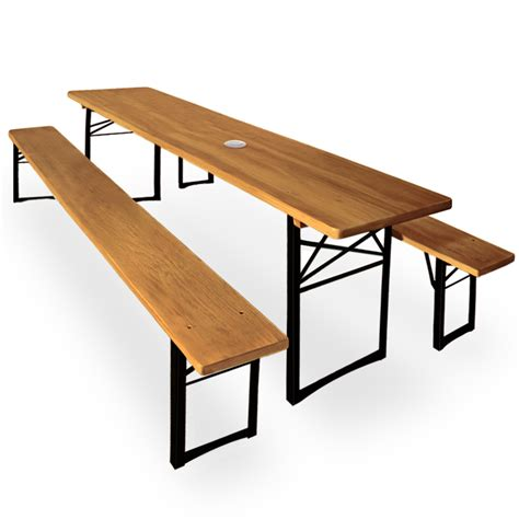 trestle table bench table bench set parasol holder garden table bench folding