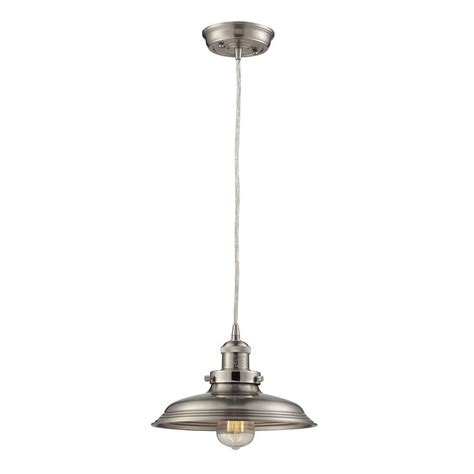 home decorators collection 2 light brushed nickel retro vanity light with metal shades home decorators collection 1 light vintage brushed nickel pendant with metal shade and solid