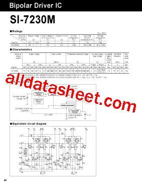transistor driver sanken si 7230m datasheet pdf sanken electric