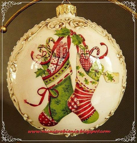 Decoupage Ornament - 17 best images about decoupage balls on
