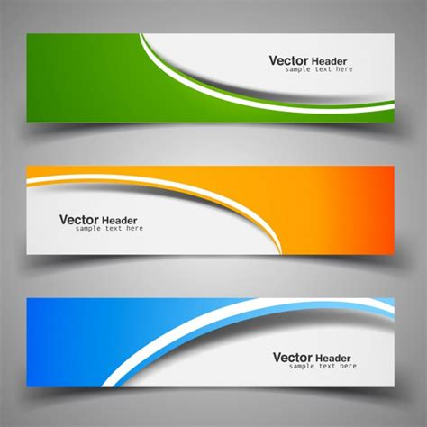 header template colorful decorative headers vector free