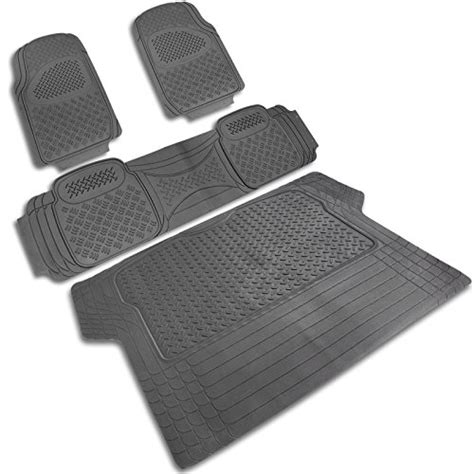 Heavy Duty Rubber Floor Mats by 4 Pieces Grey Heavy Duty All Weather 3d Rubber Floor Mat