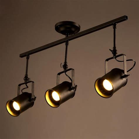 Led Ceiling Track Lights Ceiling Lights Spot Light Track Light Led Wall L Loft Rh American Industrial Retro Black
