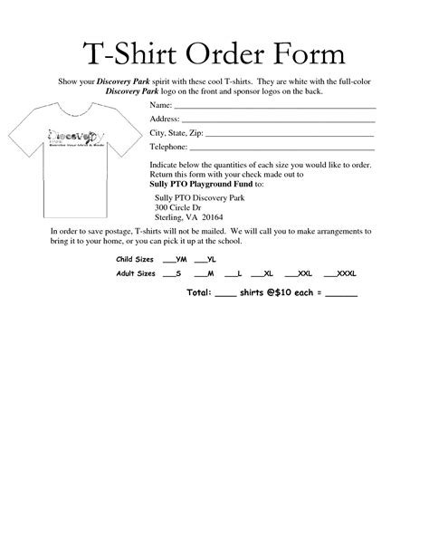 free t shirt order form template 35 awesome t shirt order form template free images