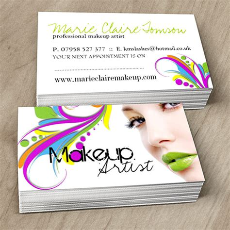 makeup artist business card template edgy makeup artist business card template