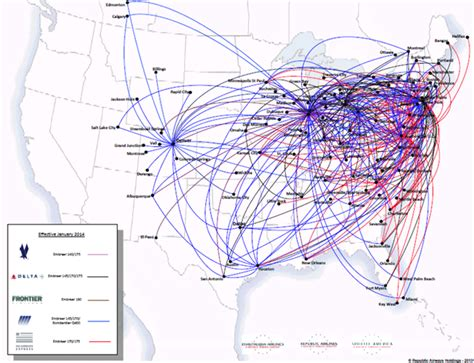 usair route map map of us airways destinations images