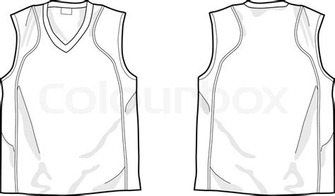 sleeveless shirt template white sleeveless shirt stock vector colourbox
