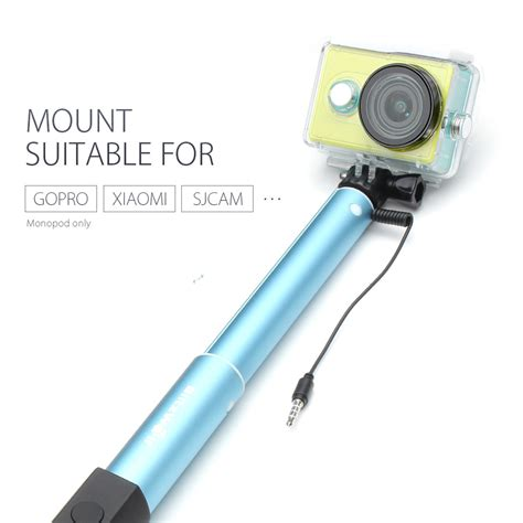 Monopod Blitzwolf blitzwolf 174 bw ws1 mini extendable wired selfie stick monopod for iphone 6 samsung galaxy