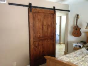 Sliding Interior Barn Door Sliding Barn Door Knotty Alder 2 Interior Doors By Porter Barn Wood Llc