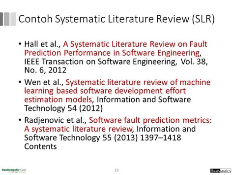 Contoh Literature Review Sistem Informasi by Research Methodology 5 Systematic Literature Review Slr Ppt
