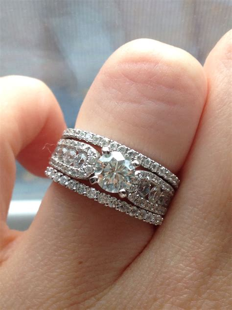 Wedding Bands With Solitaire by Wedding Rings Stacked Wedding Bands With Solitaire