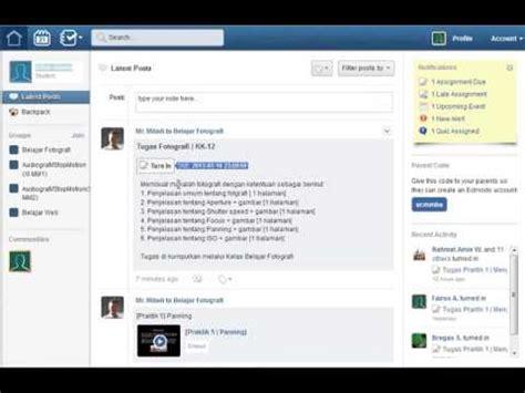 edmodo assignment tutorial cara mengumpulkan tugas assignment di edmodo youtube