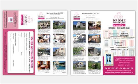 Communication des agences immobilières Création et impression de supports de communication