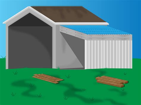 Building Onto A Garage by 6 Ways To Add A Lean To Onto A Shed Wikihow